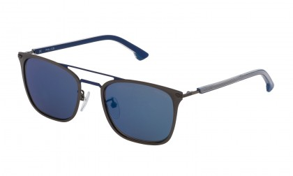 Police SK552 K53B Bakelite Shiny - Smoke Mirror Blue