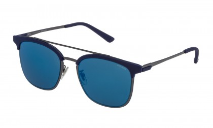 Police SPL569 568B Bakelite Shiny - Smoke Mirror Blue