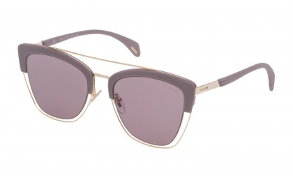 Police SPL618 300X Gold Rose Shiny - Violet Mirror Silver