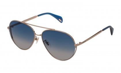 Police SPL835 8FFA Gold Grey Shiny - Blue Gradient