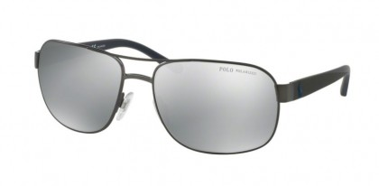 Polo Ralph Lauren 0PH3093 9157Z3 Matte Dark Gunmetal - Grey Mirror Silver Polarized