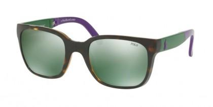 Polo Ralph Lauren 0PH4089 56516R Shiny Dark Havana - Flash Mirror Green