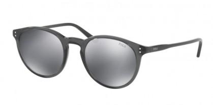 Polo Ralph Lauren 0PH4110 55366G Shiny Black on Crystal - Grey Mirror Flash