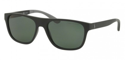 Polo Ralph Lauren 0PH4131 52849A Matte Black - Green Polarized