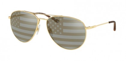 Polo Ralph Lauren 0PH3111 9004V5 Gold - Grey Tam American Flag Sil Gol