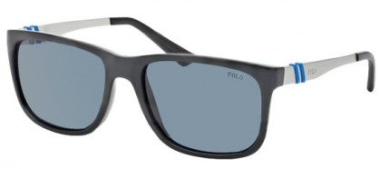 Polo Ralph Lauren 0PH4088 500187 Shiny Black - Grey Blue