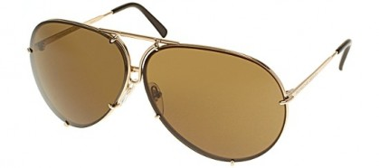 Porsche Design P8478 A BP 66 Light Gold - Brown + Light Blue with Silver Mirror
