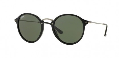 Ray-Ban 0RB2447 ROUND 901 Black - Green