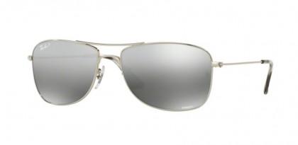 Ray Ban 0RB3543 003/5J Shiny Silver - Grey Mirror Silver Polarized
