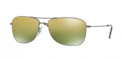 Ray Ban 0RB3543 029/6O Matte Gunmetal - Green Mirror Gold Polarized