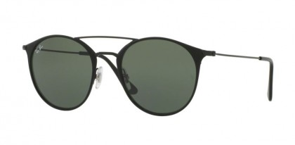 Ray Ban 0RB3546 186 Black Top Matte Black - Green