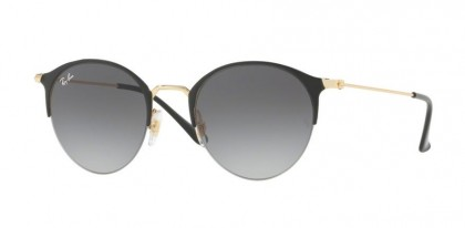 Ray Ban 0RB3578 187/11 Gold Top Shiny Black - Light Grey Gradient Dark Grey
