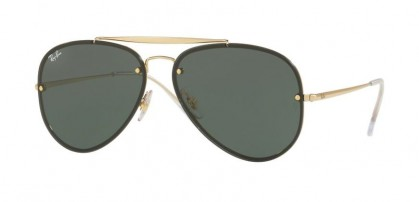 Ray Ban 0RB3584N 9050/71 Gold - Dark Green