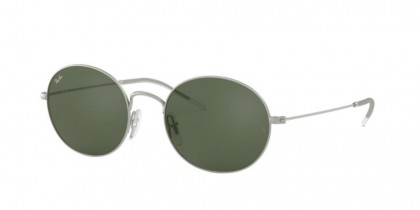 Ray Ban 0RB3594 911671  Rubber Silver - Dark Green