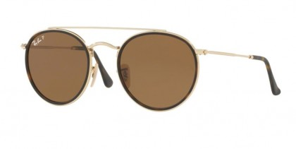 Ray Ban 0RB3647N 001/57 Gold - Brown Polarized