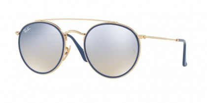 Ray Ban 0RB3647N 001/9U Gold - Gradient Brown Mirror Silver