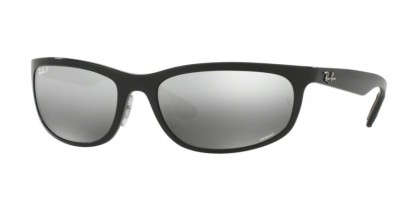 Ray Ban 0RB4265 6015J Shiny Black - Grey Polarized Mirror Silver