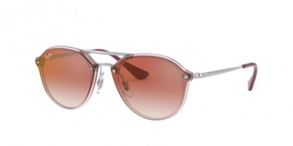 Ray Ban Junior 0RJ9067SN 7052V0  Trasparent Pink - Red Mirror Red
