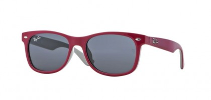 Ray Ban Junior 0RJ9052S 177/87 Top Red on Fuchsia - Grey