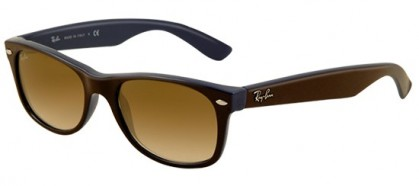 Ray-Ban 0RB2132 NEW WAYFARER 874/51 Top Brown on Blue - Crystal Brown Gradient