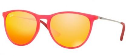 Ray-Ban Junior 0RJ9060S JUNIOR ERIKA 70096Q Fuxia Fluo Transparent Rubber - Brown Mirror Orange
