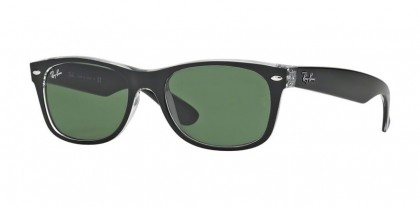Ray-Ban 0RB2132 NEW WAYFARER 6052 Top Black on Trasparent - Green