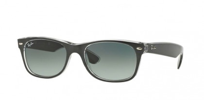 Ray-Ban 0RB2132 NEW WAYFARER 614371 Top Brushed Gunmetal on Trasparent - Grey Gradient Dark Grey