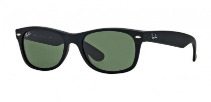 Rayban ICONS 0RB2132 NEW WAYFARER 622 Black Rubber - Crystal Green