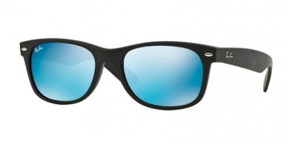 Ray-Ban 0RB2132 NEW WAYFARER 622/17 Rubber Black - Grey Mirror Blue