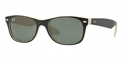 Ray-Ban 0RB2132 NEW WAYFARER 875 Top Black on Beige - Crystal Green