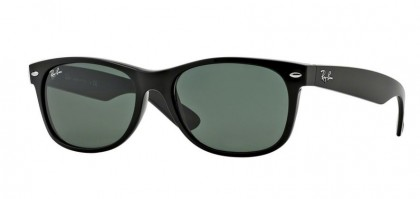 Rayban ICONS 0RB2132 NEW WAYFARER 901L Black - Crystal Green