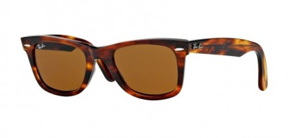 Rayban ICONS 0RB2140 WAYFARER 954 Light Tortoise - Crystal Brown