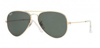 Ray-Ban 0RB3025 AVIATOR LARGE METAL W3234 Gold - Grey Green