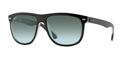 Rayban HIGHSTREET 0RB4147 RB4147 603971 Top Black on Transparent - Grey Gradient Azure