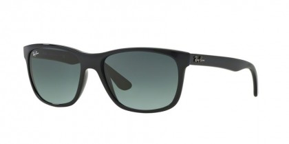 Rayban HIGHSTREET 0RB4181 RB4181 601/71 Black - Crystal Grey Gradient Azure