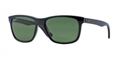 Rayban HIGHSTREET 0RB4181 RB4181 601/9A Black - Green Polarized