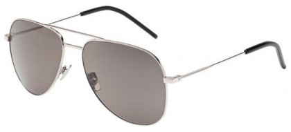 Saint Laurent CLASSIC 11-010 Silver Silver - Shiny Smoke