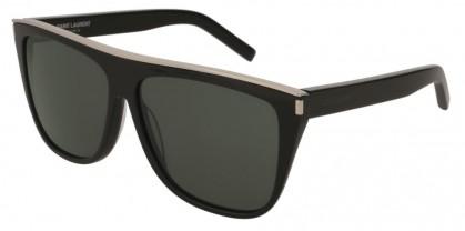 Saint Laurent SL 1 COMBI-001 Black Black - Shiny Grey