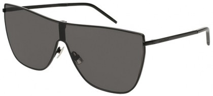 Saint Laurent SL 1 MASK-001 Black Black - Matte Grey