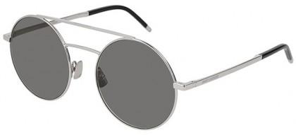 Saint Laurent SL 210-001 Silver Silver - Shiny Grey