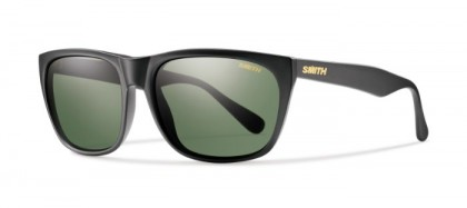 SMITH STYLE TIOGA DL5  (IN) Matte Black - Grey Green Solid Tint Polarized