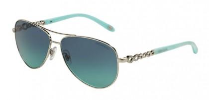 Tiffany 0TF3049B 60019S Silver - Azure Gradient Blue