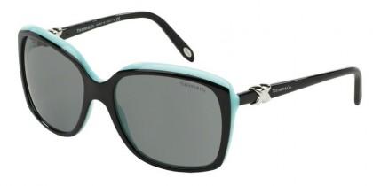 Tiffany 0TF4076 80553F Top Black Blue - Gray