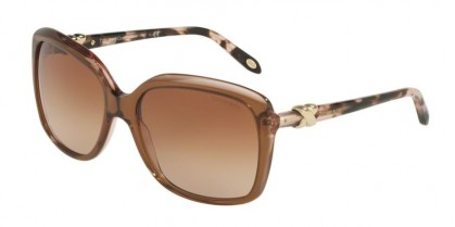Tiffany 0TF4076 82553B BLUE ENTRY Brown Grey Pink - Brown Gradient