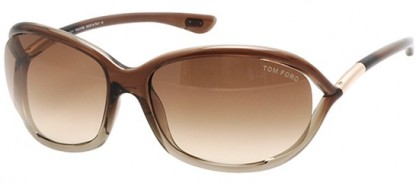 Tom Ford FT0008 38F Brown Shaded Transparent Bronze - Brown Shaded