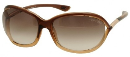 Tom Ford FT0008 50F Soft Orange Shaded Transparent Brown - Brown Shaded