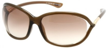 Tom Ford FT0008 692 Transparent Dark Brown - Brown Shaded