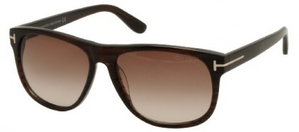 Tom Ford FT0236 50P Striped Brown - Brown Shaded