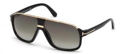 Tom Ford FT0335 01P Shiny Black Gold - Grey Shaded