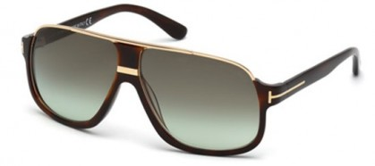 Tom Ford FT0335 56K Havana Gold - Grey Green Shaded